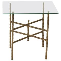 Maison Baguès Style Faux Bamboo Side Table