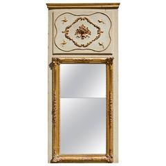 French Early 19th Century Trumeau De Boiserie a Mirror