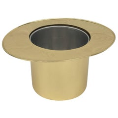 Italian Brass Top Hat Ice Bucket