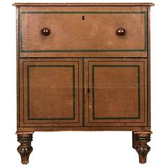 19th Century English Regency Period Painted Pine Child's Commode