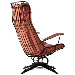 Black Wire Metal Rocking Chair