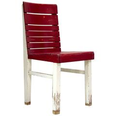 "Red and White Painted ""Fischel"" Chair, France, circa 1920s-1930s"