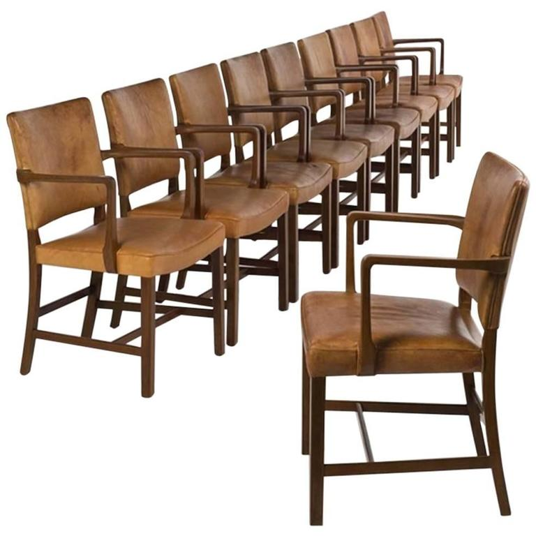 Palle Suenson Set Of 10 Dining Chairs For Jacob Kjaer At