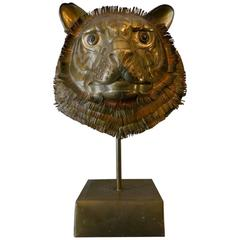 Brass Tigers Head by Sergio Bustamante