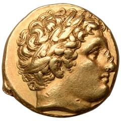 Ancient Greek Gold Coin of King Philip II, 323 BC