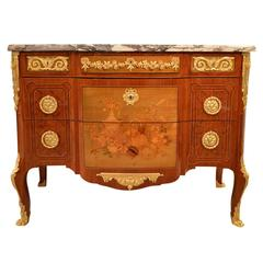 Magnificent Pair of Louis XVI Transitional Style French Commodes