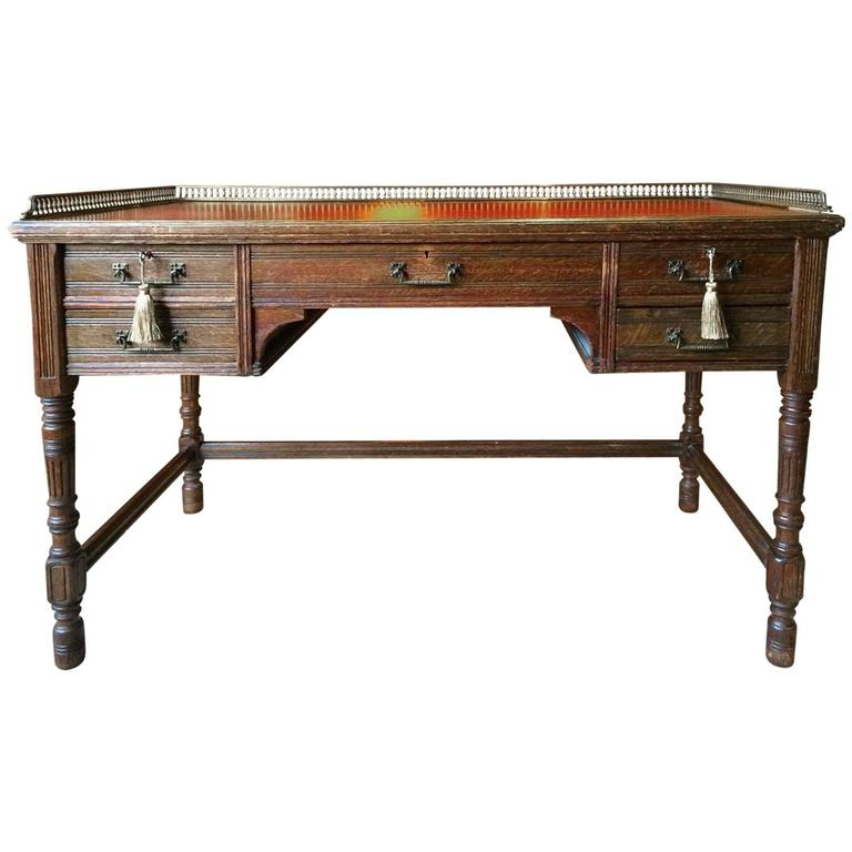 Antique Desk Gillows Of Lancaster 19th Century Victorian