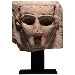 Ancient South Arabian Stone Abstract Pillar Sculpture, 250 BC