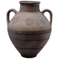 Ancient Cypriot Geometric Amphora, 800 BC