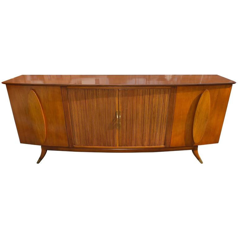 1950s Walnut Italian Sideboard by Adolfo Genovese For Sale