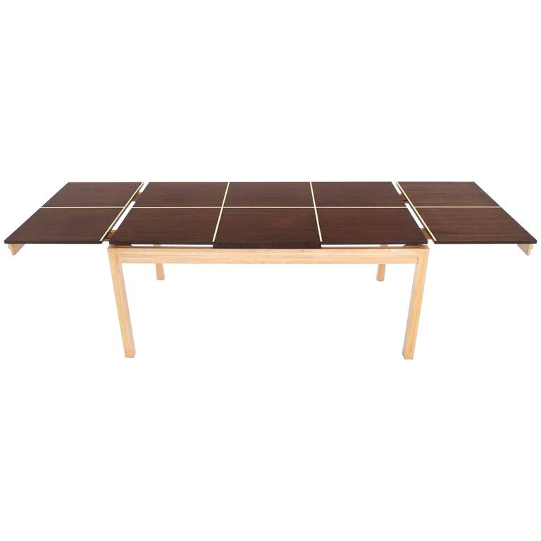 Two tone Dining Table with Two Leaves