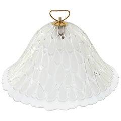 Large Kalmar Glass and Brass Pendant Light, 1960s