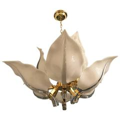 Italian Murano Mid Century Two Tier Chandelier By Franco Luce