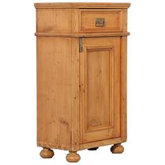 Antique Pine Nightstand from Hungary, 19th Century