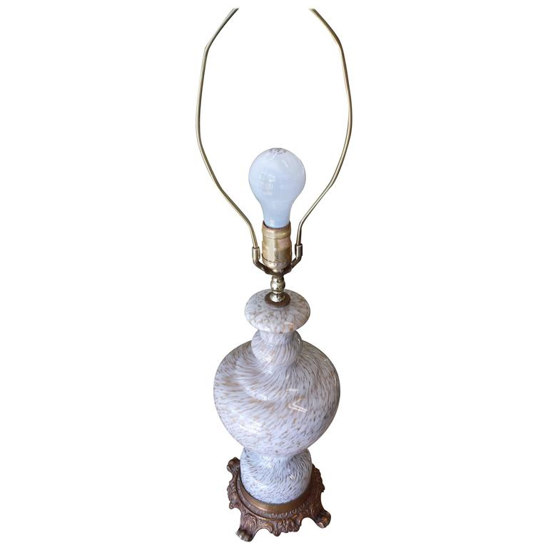 murano gold and white swirl glass table lamp for sale at. Black Bedroom Furniture Sets. Home Design Ideas