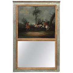 Late 18th Century Antique French Louis XVI Trumeau Mirror
