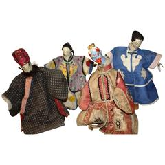 Collection of Four 19th Century Chinese Hand-Puppets