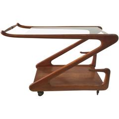 Ico Parisi Style Modern Era Bar Cart, 1950s