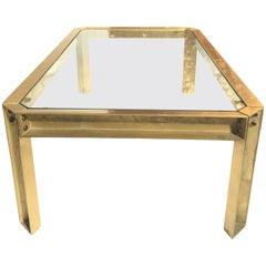 Ghyczy Casted Bronze Coffee Table by Peter Ghyczy, 1970s