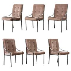 Set of Six Vintage Mid-Century Pierre Cardin Dining Chairs