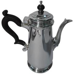 Tiffany Sterling Silver Coffeepot in English Georgian Style