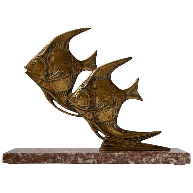 Brass Fish Sculpture For Sale