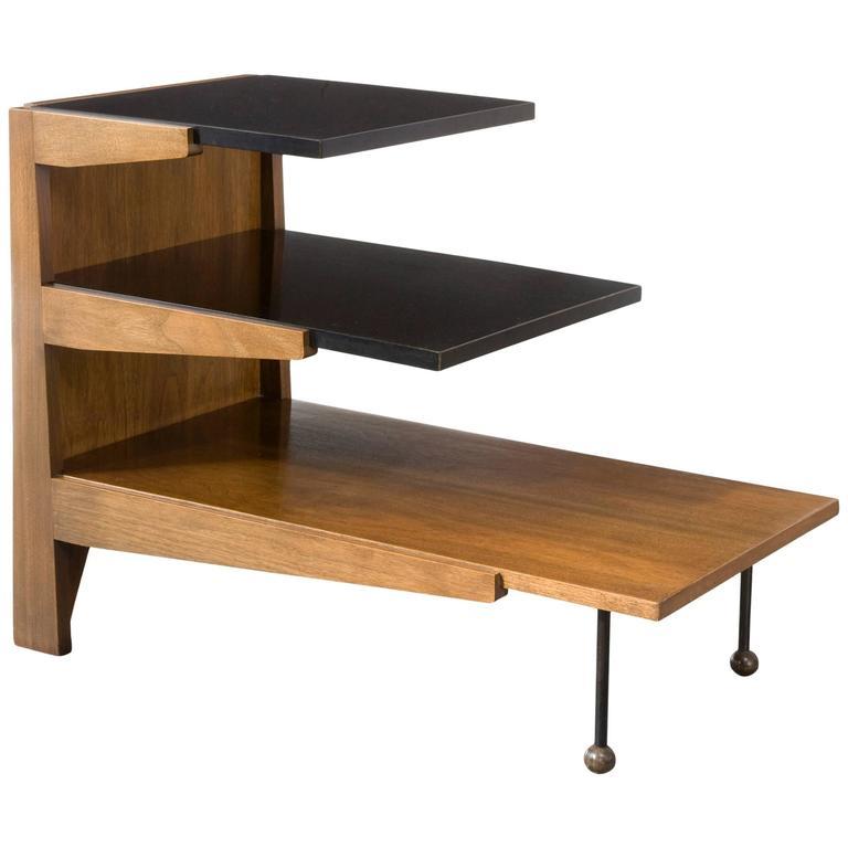 Rare Three Tier Side Table By Greta Magnusson Grossman Usa Circa