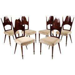 Six Dining Chairs, Italy, Art Moderne, circa 1946