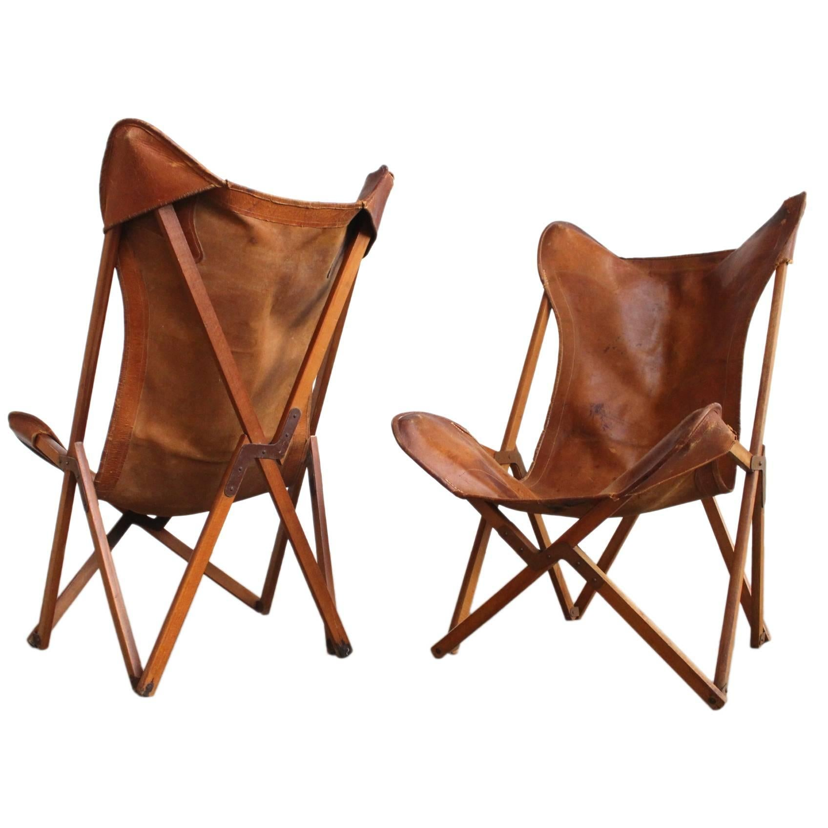 Very Rare Original 'Tripolina' Chairs by Joseph Fendy for Paolo Viganò, Signed