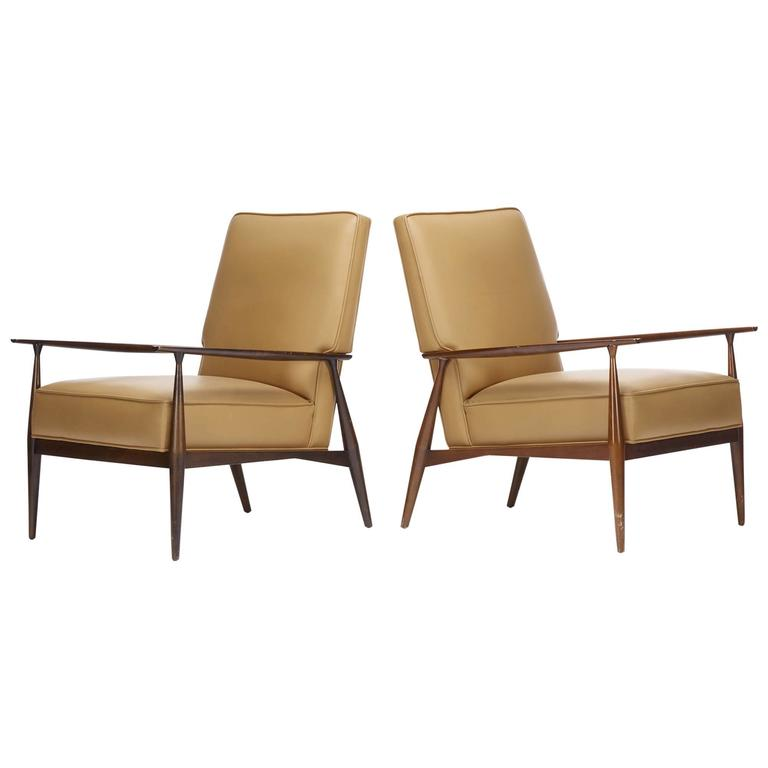 Planner Group Lounge Chairs Pair By Paul Mccobb For