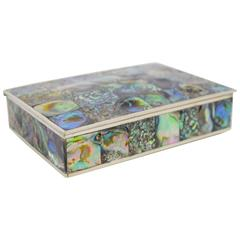 Abalone and Silver Plate Box by Alpaca of Mexico
