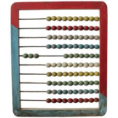 Large 1930s Carnival Hand-Painted Abacus