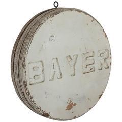 Vintage Advertising Bayer Sign