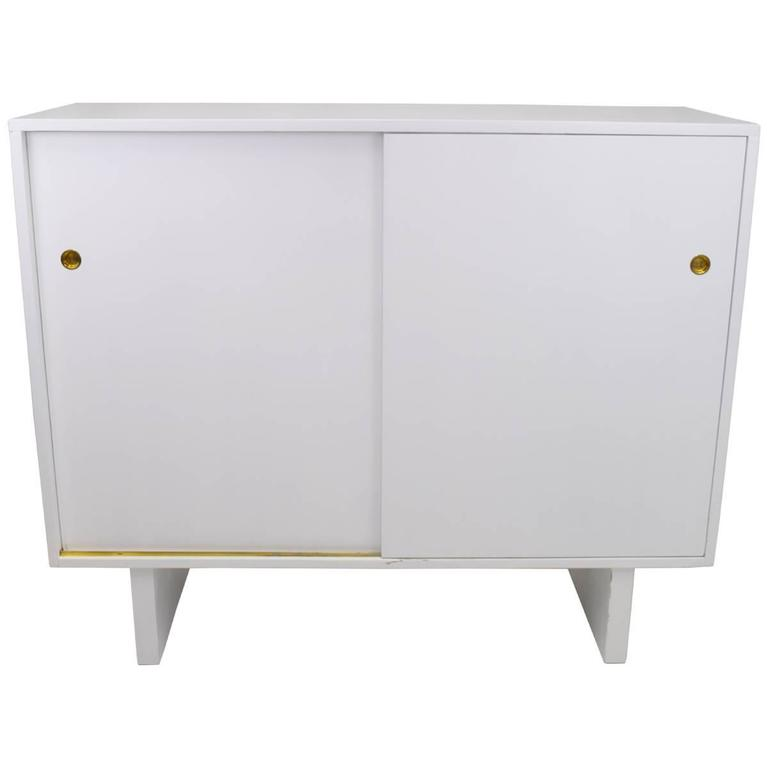 White Lacquered Wardrobe Cabinet by James Wylie for Widdicomb   For Sale