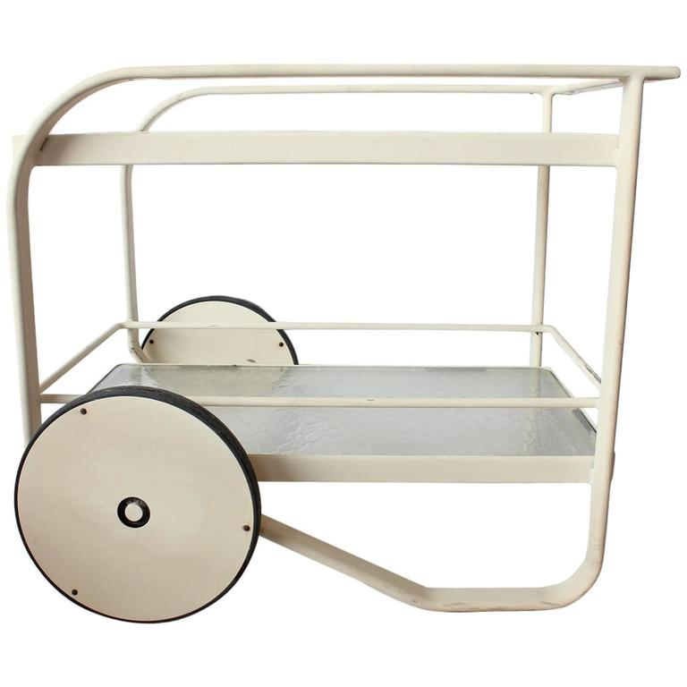Stylish Modern Bar Cart by Richard Frinier for Brown Jordan