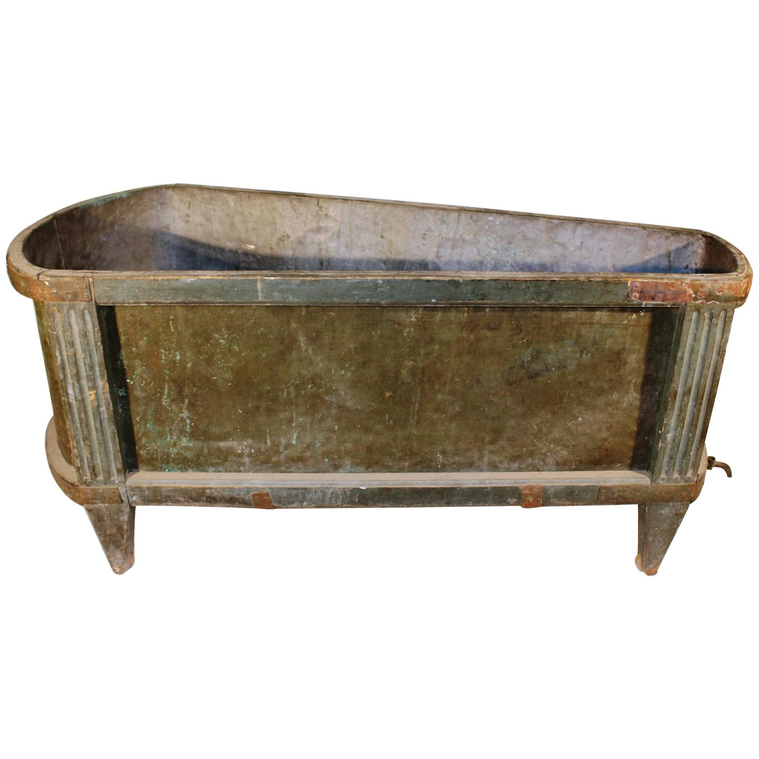 Antique Zinc Bathtub at 1stdibs