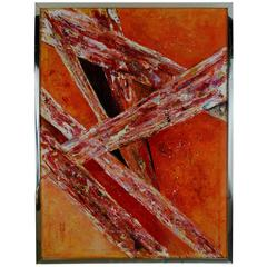 ON SALE Crystal Formation  Abstract Painting