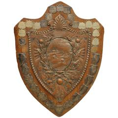Large 1900s English South West Ham Swimming Association Trophy Plaque