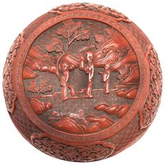 Early 19th Century Chinese Domed Cinnabar Box
