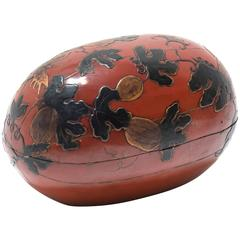 19th Century Chinese Gourd Form Lacquer Wedding Presentation Box