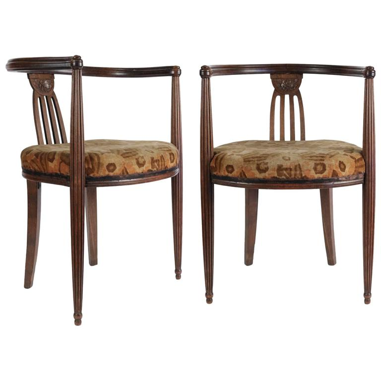Nice Pair of Art Deco Armchairs, 1930s, French