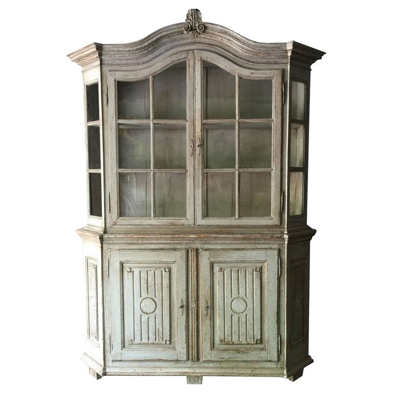 19th Century Vitrine Cabinet For Sale