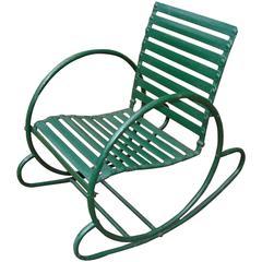 Art Deco Vintage Lawn/Garden Rocking Chair