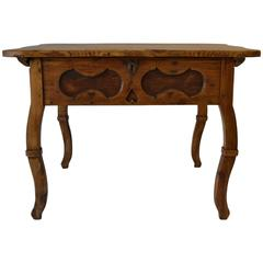 Pitch Pine and Oak Baroque Revival Centre Table