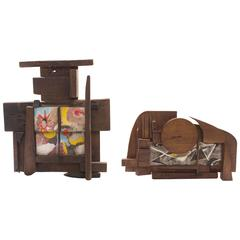 Lee Porzio & Allen Ditson Tile and Walnut Assemblages