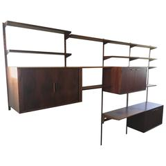 Rosewood Wall Mounted Shelving Unit by Kai Kristiansen for FM Møbler