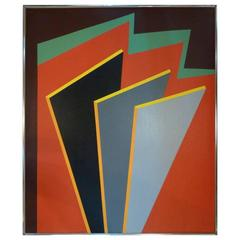 Geometric Abstract Painting by Herbert Busemann