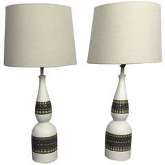 Pair of Bitossi Ceramic Table Lamps