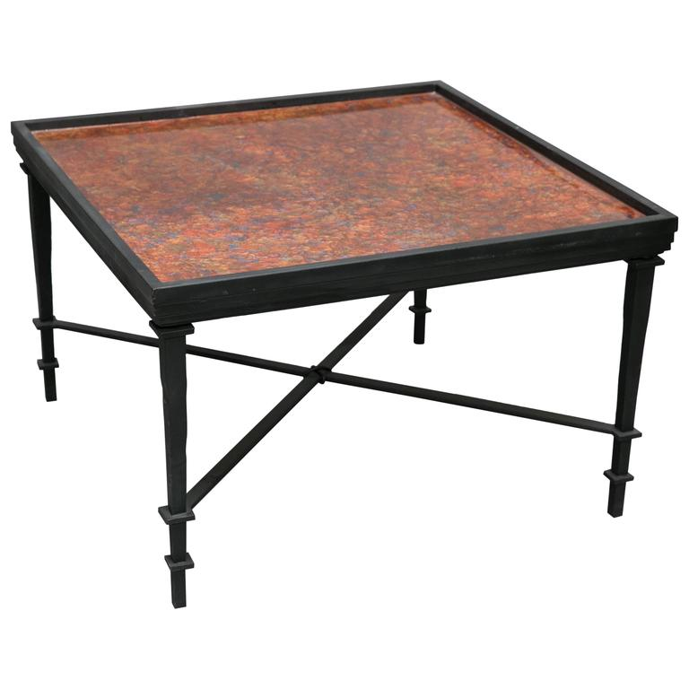 William Loyd Hand Painted Coffee Table For Sale