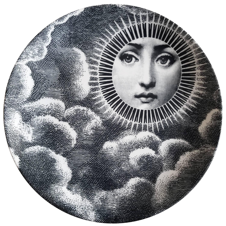 Piero Fornasetti Tema E Variazioni Porcelain Plate, #101